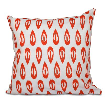 Sabrina Tears Geometric Print Throw Pillow Size: 18 H x 18 W, Color: Orange