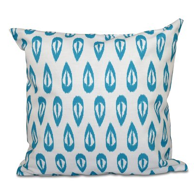 Sabrina Tears Geometric Print Throw Pillow Size: 16 H x 16 W, Color: Turquoise