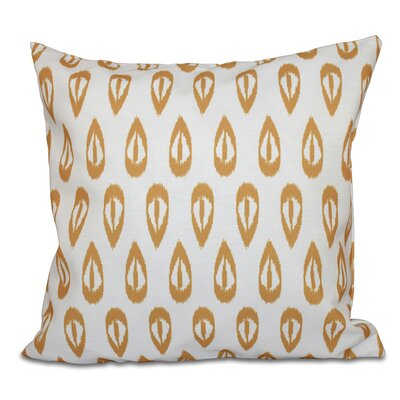 Sabrina Tears Geometric Print Throw Pillow Size: 18 H x 18 W, Color: Gold