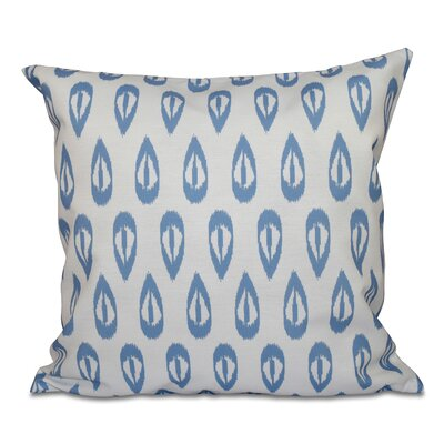 Sabrina Tears Geometric Print Throw Pillow Size: 26 H x 26 W, Color: Blue