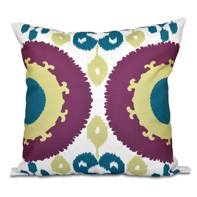Oliver Boho Geometric Print Throw Pillow Size: 18 H x 18 W, Color: Purple