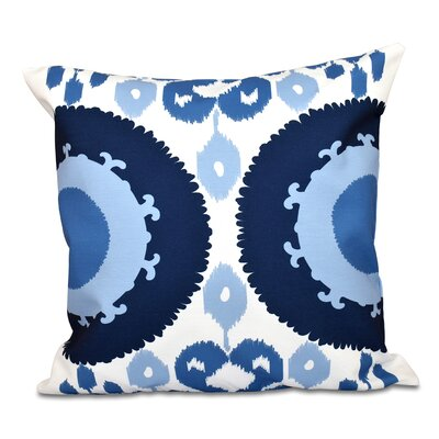 Oliver Boho Geometric Print Throw Pillow Color: Navy Blue, Size: 18 H x 18 W
