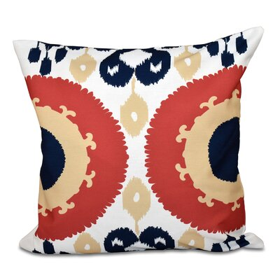 Oliver Boho Geometric Print Throw Pillow Size: 16 H x 16 W, Color: Coral