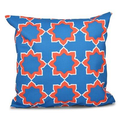 Oliver Bohemian 2 Geometric Print Throw Pillow Size: 18 H x 18 W, Color: Blue