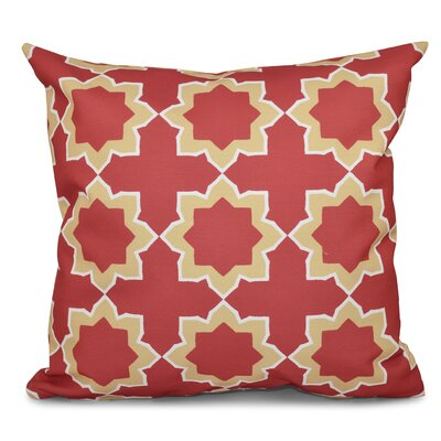 Oliver Bohemian 2 Geometric Print Throw Pillow Size: 26 H x 26 W, Color: Coral