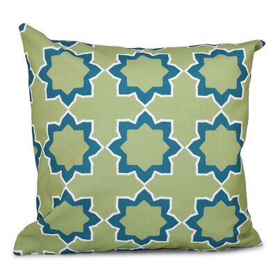Oliver Bohemian 2 Geometric Print Throw Pillow Size: 26 H x 26 W, Color: Teal