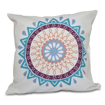 Oliver Mod Geometric Print Throw Pillow Size: 18 H x 18 W, Color: Turquoise