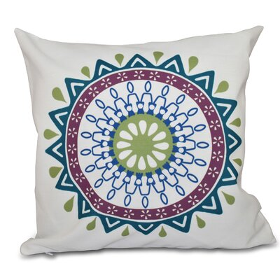 Bridgehampton Geometric Print Square Throw Pillow Size: 18 H x 18 W, Color: Teal