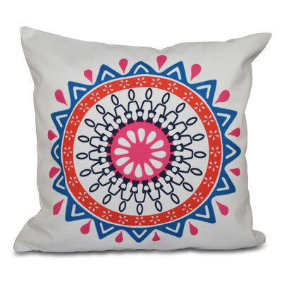 Oliver Mod Geometric Print Throw Pillow Color: Blue, Size: 18