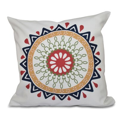 Bridgehampton Geometric Print Square Throw Pillow Size: 18 H x 18 W, Color: Navy Blue