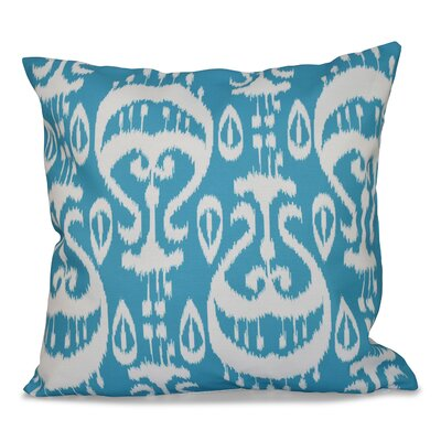 Bridgehampton Ikat Geometric Print Throw Pillow Size: 16 H x 16 W, Color: Turquoise