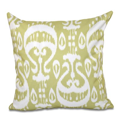 Bridgehampton Ikat Geometric Print Throw Pillow Size: 18 H x 18 W, Color: Green