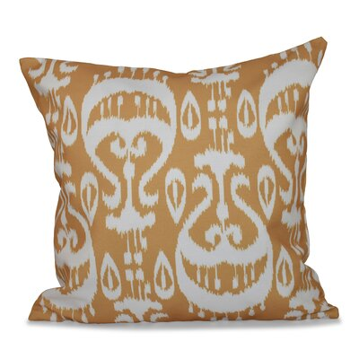 Bridgehampton Ikat Geometric Print Throw Pillow Size: 18 H x 18 W, Color: Gold