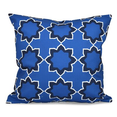 Oliver Bohemian Geometric Print Throw Pillow Size: 18 H x 18 W, Color: Blue