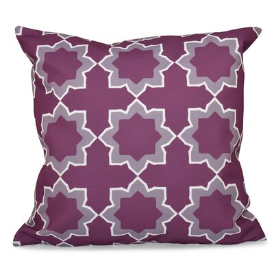 Oliver Bohemian Geometric Print Throw Pillow Color: Purple, Size: 18