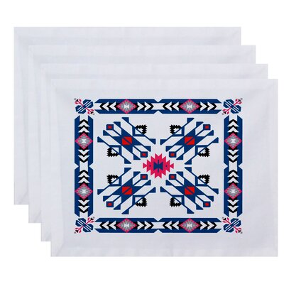 Oliver Jodhpur Border 4 Geometric Print Placemat Color: Blue