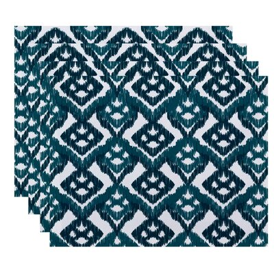 Oliver Hipster Geometric Print Placemat Color: Teal
