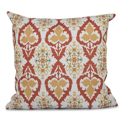 Bridgehampton Geometric Print Throw Pillow Size: 18 H x 18 W, Color: Coral