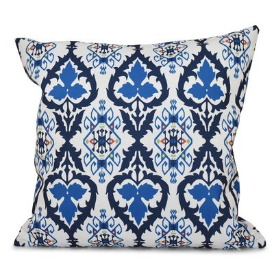 Bridgehampton Geometric Print Throw Pillow Color: Navy Blue, Size: 26 H x 26 W