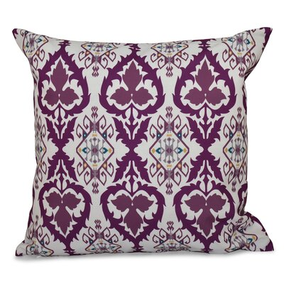 Bridgehampton Geometric Print Throw Pillow Size: 18 H x 18 W, Color: Purple