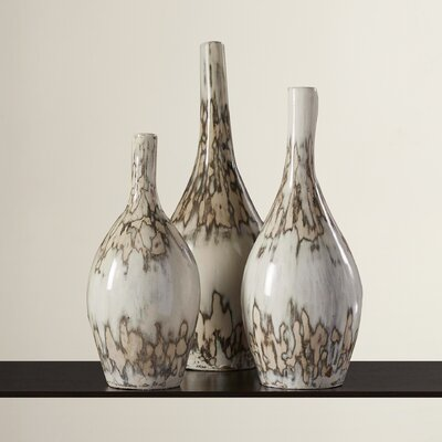 3 Piece Pottery Floor Vases Set