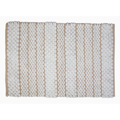 Francois Bath Rug Color: Beige/White