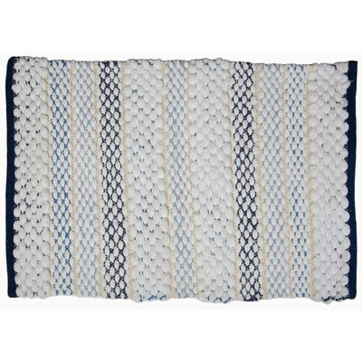 Francois Bath Rug Color: Navy/White