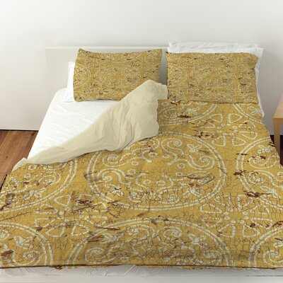 Theo Duvet Cover Color: Yellow, Size: Queen