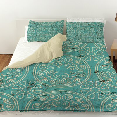 Theo Duvet Cover Size: Queen, Color: Teal