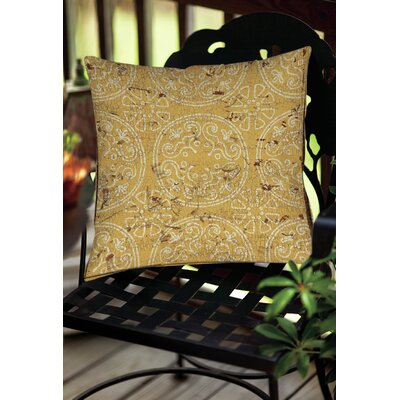 Theo Medallion Throw Pillow Size: 20 H x 20 W x 5 D, Color: Yellow