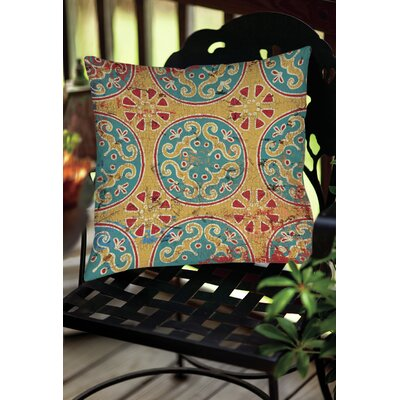 Lankershim Medallion Indoor/Outdoor Throw Pillow Size: 20 H x 20 W x 5 D, Color: Multi