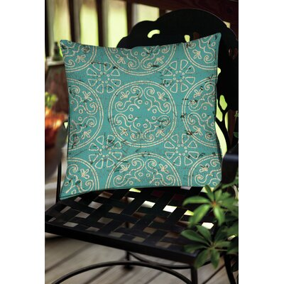 Theo Medallion Throw Pillow Size: 16 H x 16 W x 4 D, Color: Teal