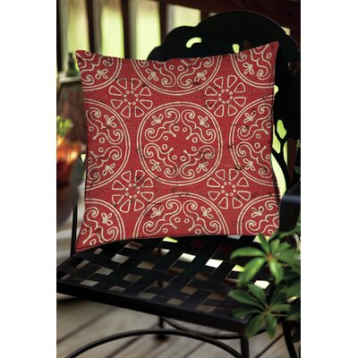 Theo Medallion Throw Pillow Size: 18 H x 18 W x 5 D, Color: Rust