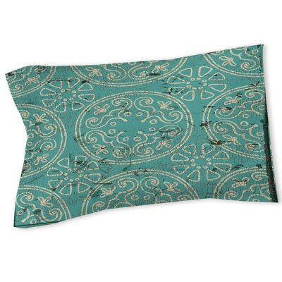 Theo Medallion Sham Size: Queen/King, Color: Teal