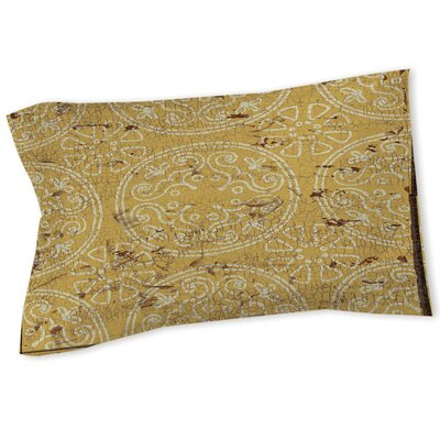 Theo Medallion Sham Size: Queen/King, Color: Yellow