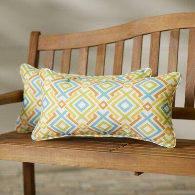 Terneuzen Indoor/Outdoor Lumbar Pillow Set Size: 12x24