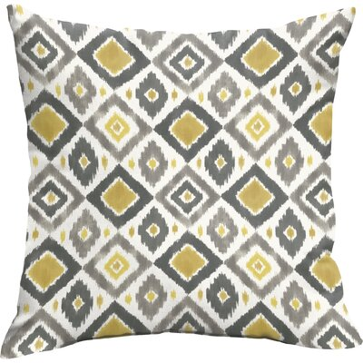Socoma Outdoor Throw Pillow Size: 18 H x 18 W, Color: Gold / Grey