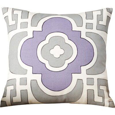 Assafa 100% Cotton Throw Pillow Color: Gray/Plum