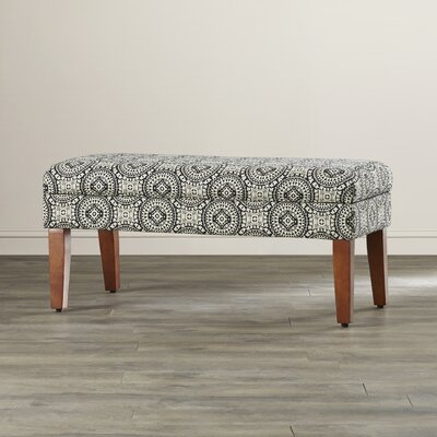 Rafia Wood Storage Bedroom Bench