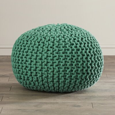Grimes Pouf Ottoman Upholstery: Emerald