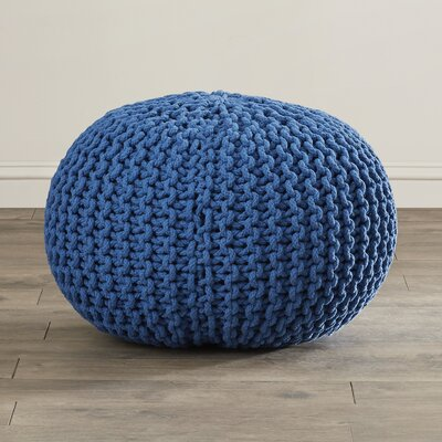 Grimes Pouf Ottoman Upholstery: Cobalt