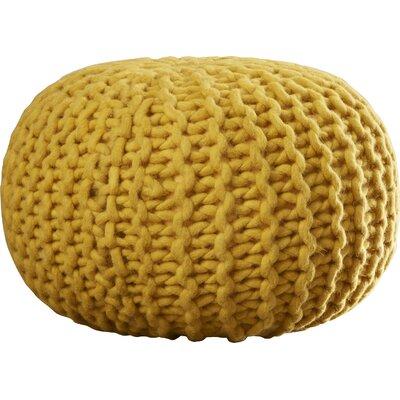 Jabari Sphere Pouf Ottoman Upholstery: Mustard