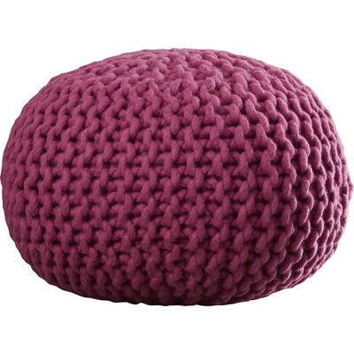 Jabari Sphere Pouf Ottoman Upholstery: Magenta