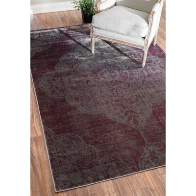 Lenno Purple Area Rug Rug Size: 52 x 8