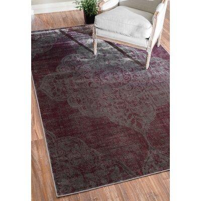Lenno Purple Area Rug Rug Size: 78 x 96