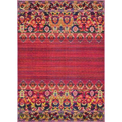 Rialto Red Area Rug Rug Size: 5' x 8'