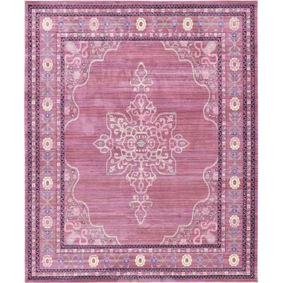 Bradford Pink Area Rug Rug Size: Rectangle 8 x 10