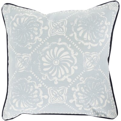 Ouezzane 100% Cotton Throw Pillow Size: 22 H x 22 W x 4 D, Color: Butter/Iris, Filler: Down