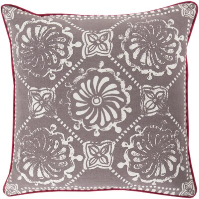 Ouezzane 100% Cotton Throw Pillow Size: 22 H x 22 W x 4 D, Color: Olive/Light Gray, Filler: Down