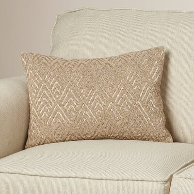 Gigi Down Lumbar Pillow Color: Beige